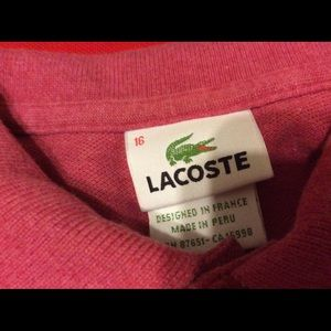 Lacoste Shirts & Tops - New~ lot of 2  boys size 16 polo shirts